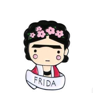 Jewelry - {5/$25} Cute Frida cartoon portrait pin